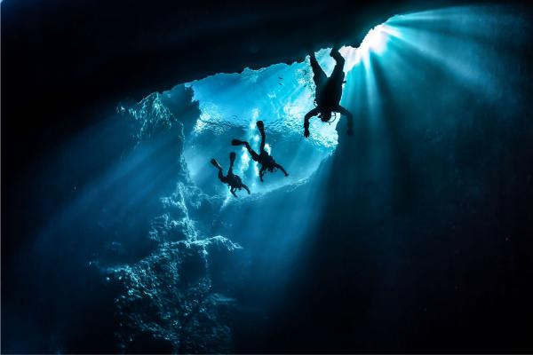 3 divers underwater
