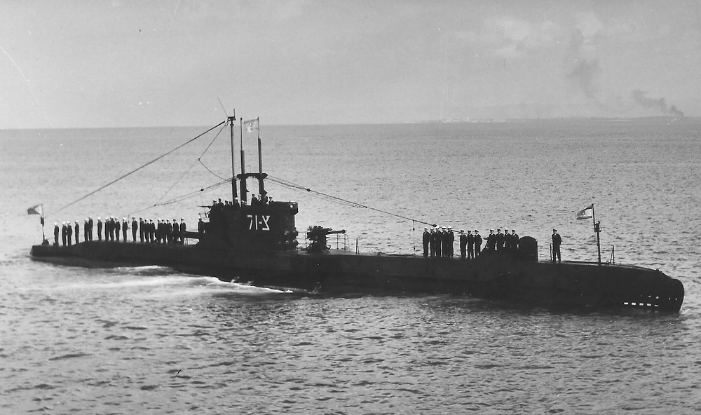 The Ahi Tanin צ-71 Submarine. The submarine that carried the soldiers to the mission in Alexandria.