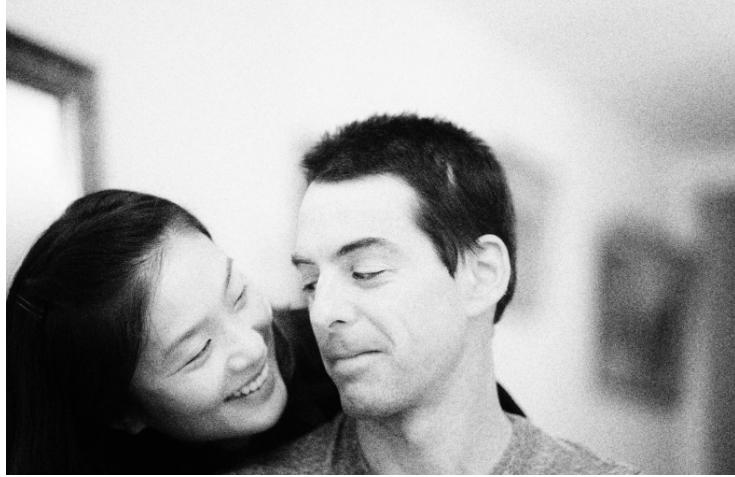 Oleh Frederic Simon and his fiancee