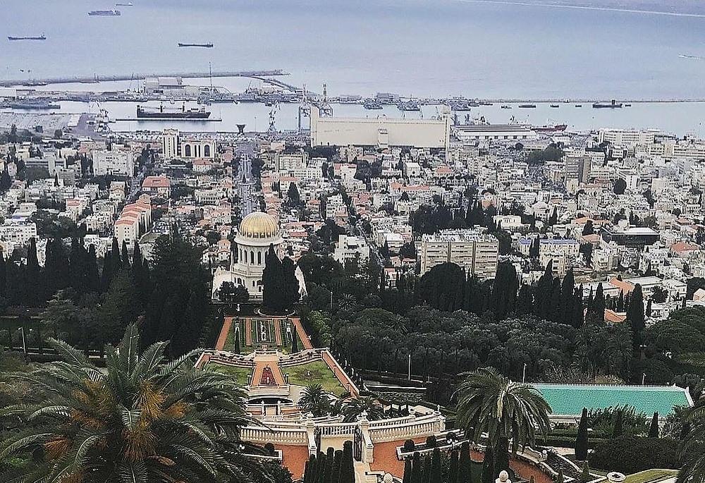 View of the Baha'i Gardens in Haifa