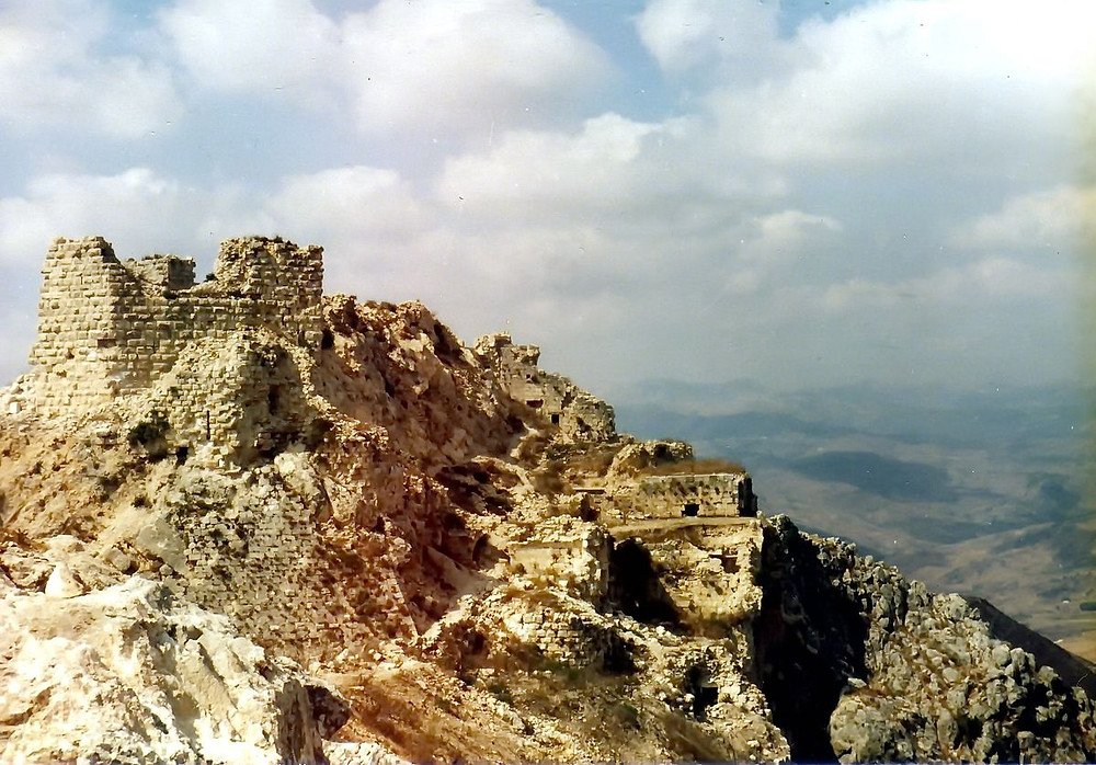 The old Beaufort Crusader Castle in Lebanon