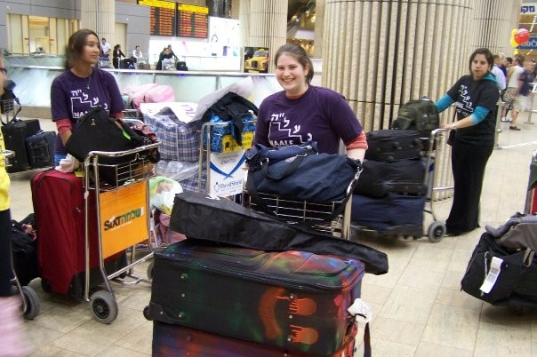 Oleh Chaya Ticker arriving at Ben Gurion airport as a highschool student