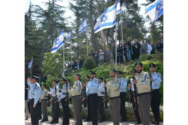 Israeli Police Honor Guard on Israel's Memorial Day 2015