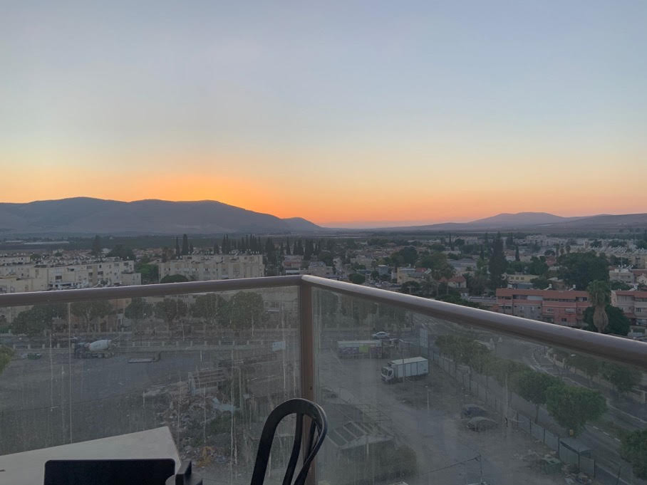 The view from Lily Horn's apartment balcony in Israel