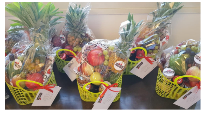 5 packed fruit baskets from Love from the Shuk