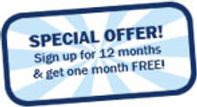 Special Offer image link, to offer one month free sevice!