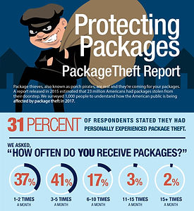 "A link to the article ""Protecting Packages"" package theft report"