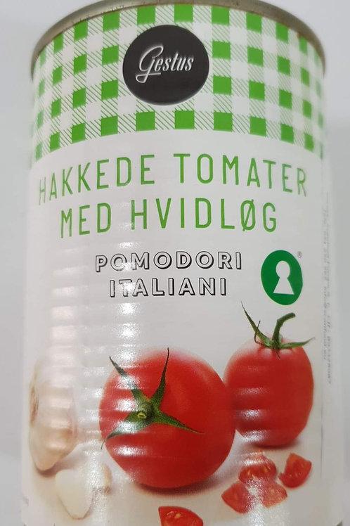 Hakkede tomater med Hvidløg