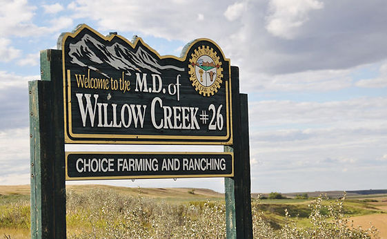 MD of Willow Creek Sign
