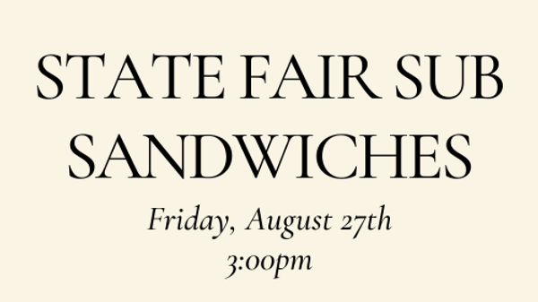 State Fair Sub Sandwich