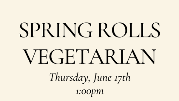 Spring Rolls - Vegetarian