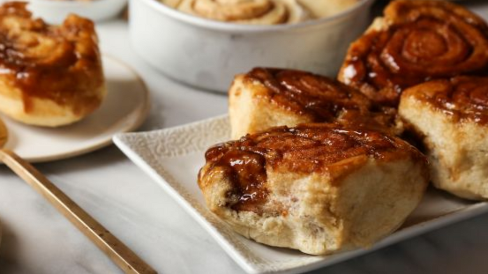 Grandma's Yeasted Buns and Caramel Roll - 10/24/20
