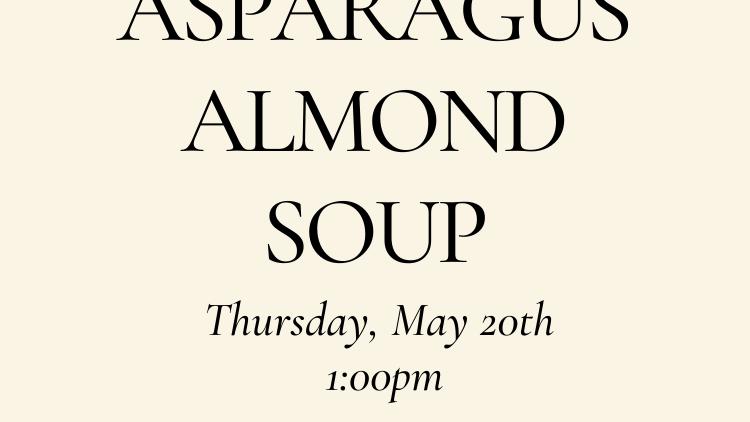 Asparagus Almond Soup - Vegetarian
