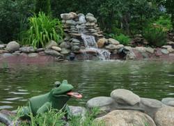Пермяки водоем с водопадом