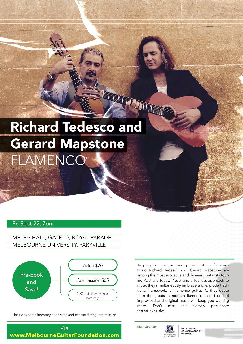 Richard Tedesco, Gerard Mapstone. Melbourne International Guitar Festival 2017