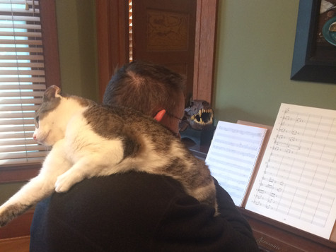 Composer at work