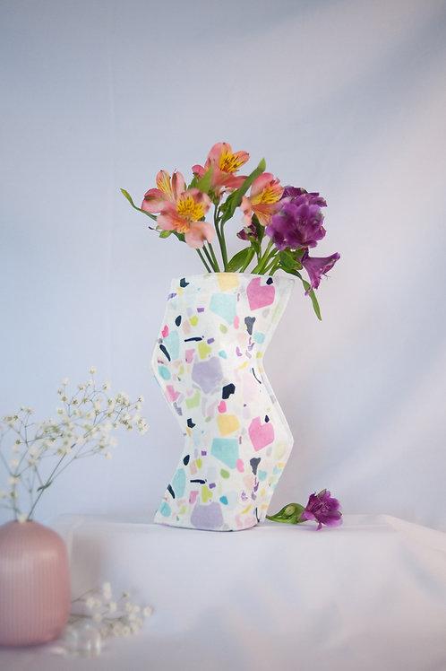 """""""Terrazzo"""" print zig-zag textile vase"""