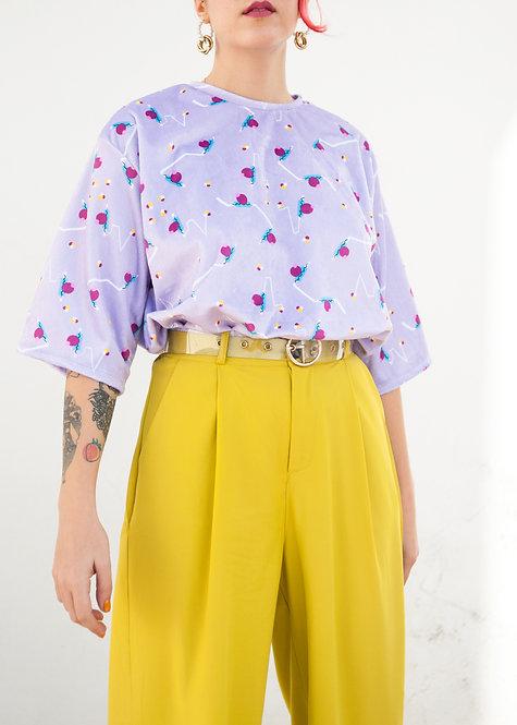 """""""Retro polka"""" velvet t-shirt"""