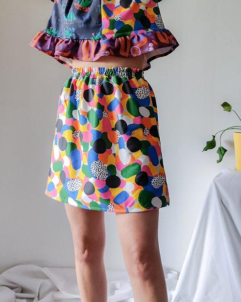 Rainbow mini skirt (S/M)