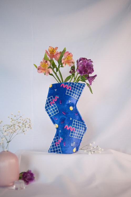 """""""California Dreaming"""" print zig-zag textile vase"""