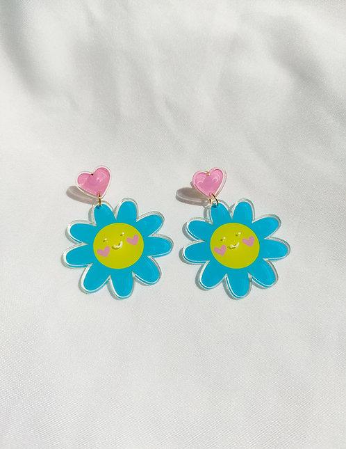 """Happy Daisies"" statement acrylic earrings"