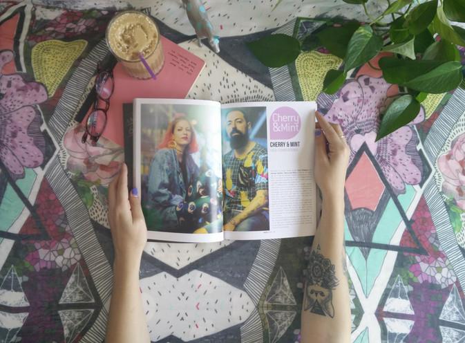 "Printed publication for the alternative lifestyle magazine in Cyprus ""Melani Magazine"""
