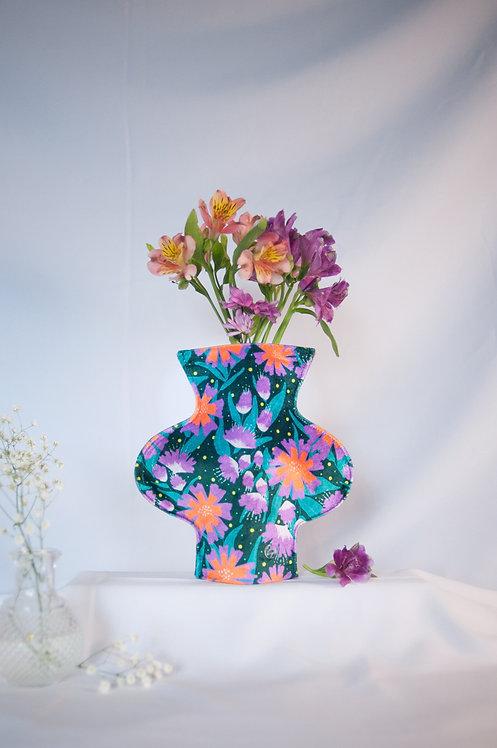 """Floralicious"" print textile vase"
