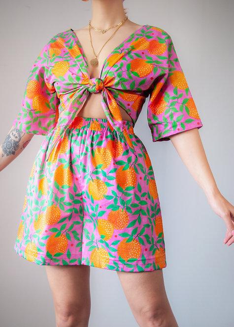 """""""Orange garden"""" high waist Shorts"""