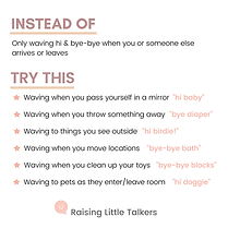teach hi and bye raising little talkers.