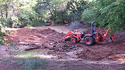 dirt work pond diggig