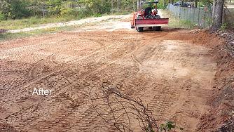 Dirt work leveling pad prep