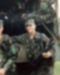 BozHog in the Army days with the M60