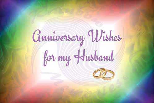 Anniversary Wishes for my Husband