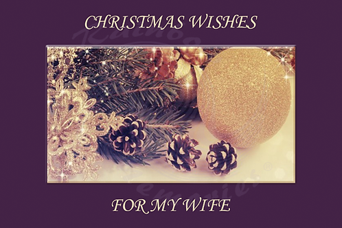 Christmas Wishes For My Wife