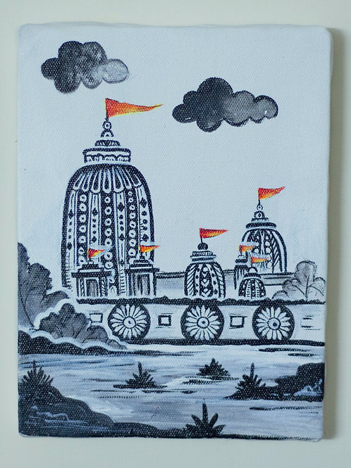 Canvas Frame - Lord Jaganath Temple