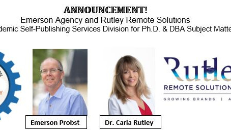 Emerson Agency with Rutley Remote Solutions promote new Academic Division of Self-Publishing