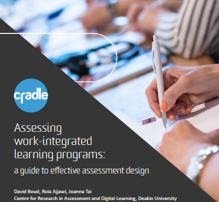 CRADLE: Assessing work-integrated learning programs:a guide to effective assessment design