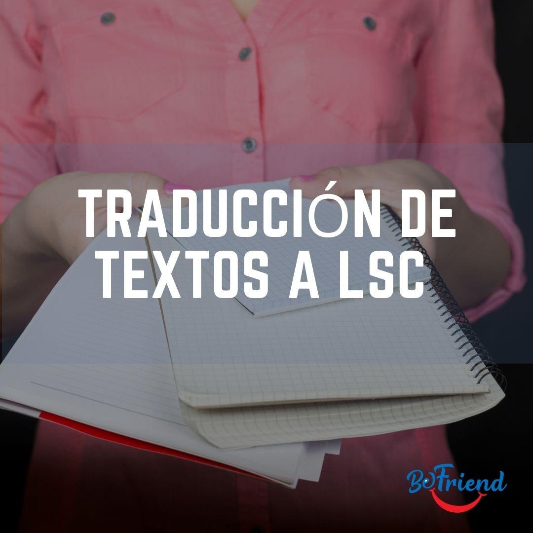 BeFriend Traducción de Textos a LSC