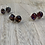 Thumbnail: Silver and glass stud earrings