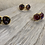 Thumbnail: Glass and Gold stud earrings