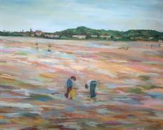 Sandy mount beach Dublin