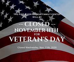 Closed November 11th for Veteran's Day.p