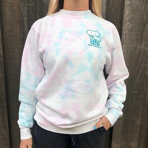 Tie Dyed Crew Sweatshirt