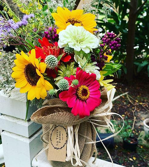 La Terre Farms fresh picked flowers