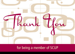 Retro Thank-you Cards for SCUP