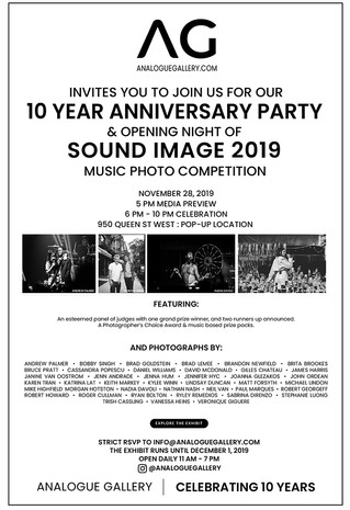 2019 10 Year Anniversary of Analogue Gallery!