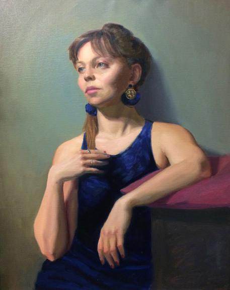 Eva in Blue Dress