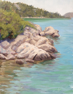 Rocks in Turquoise Sea