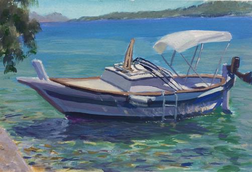 Boat in Sali Harbour