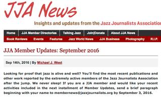 Jazz Journalists Update